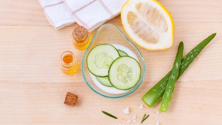 Natural skin toning ingredients.